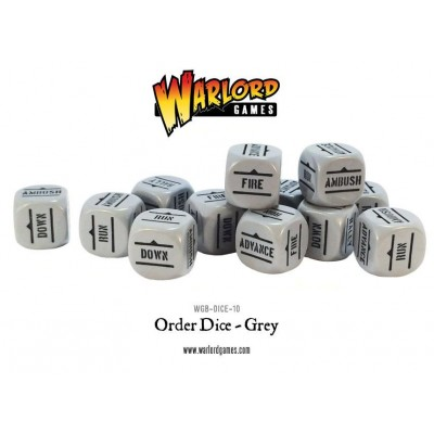 Bolt Action Orders Dice - Grey (12) WGB-DICE-10