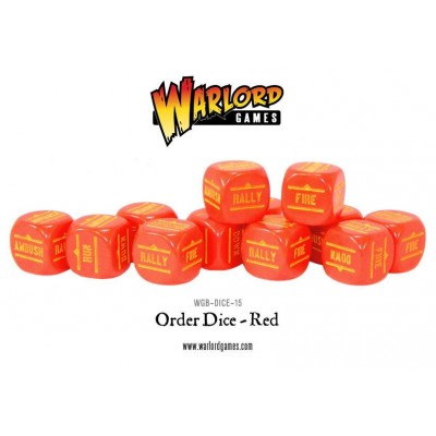 Bolt Action Orders Dice - Red (12) WGB-DICE-15