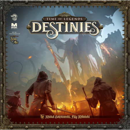 Legendary Chest Pledge 1 copy of Time of Legends: Destinies - Core Box including the Sea of Sand expansion, the free Myth and Folklore expansion and the 4 Add-ons included in this campaign!